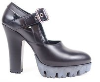 Miu Miu Leather Chunky Black Platforms