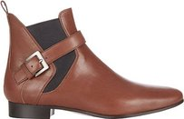 Miu Miu Leather Chelsea Ankle Eu Brown Boots