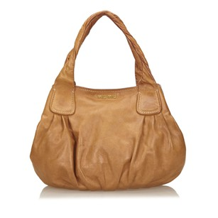Miu Miu Brown Leather Others Shoulder Bag