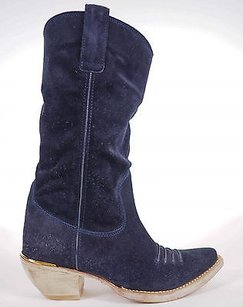 Miu Miu Suede With Dark Blue Boots
