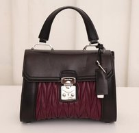 Miu Miu Current Blackpurple Satchel in Multi-Color