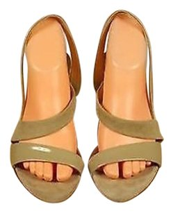 Miu Miu Womens Patent Beige Pumps