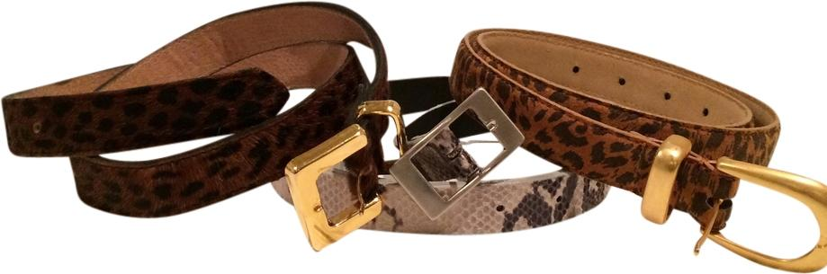 Animal print belts