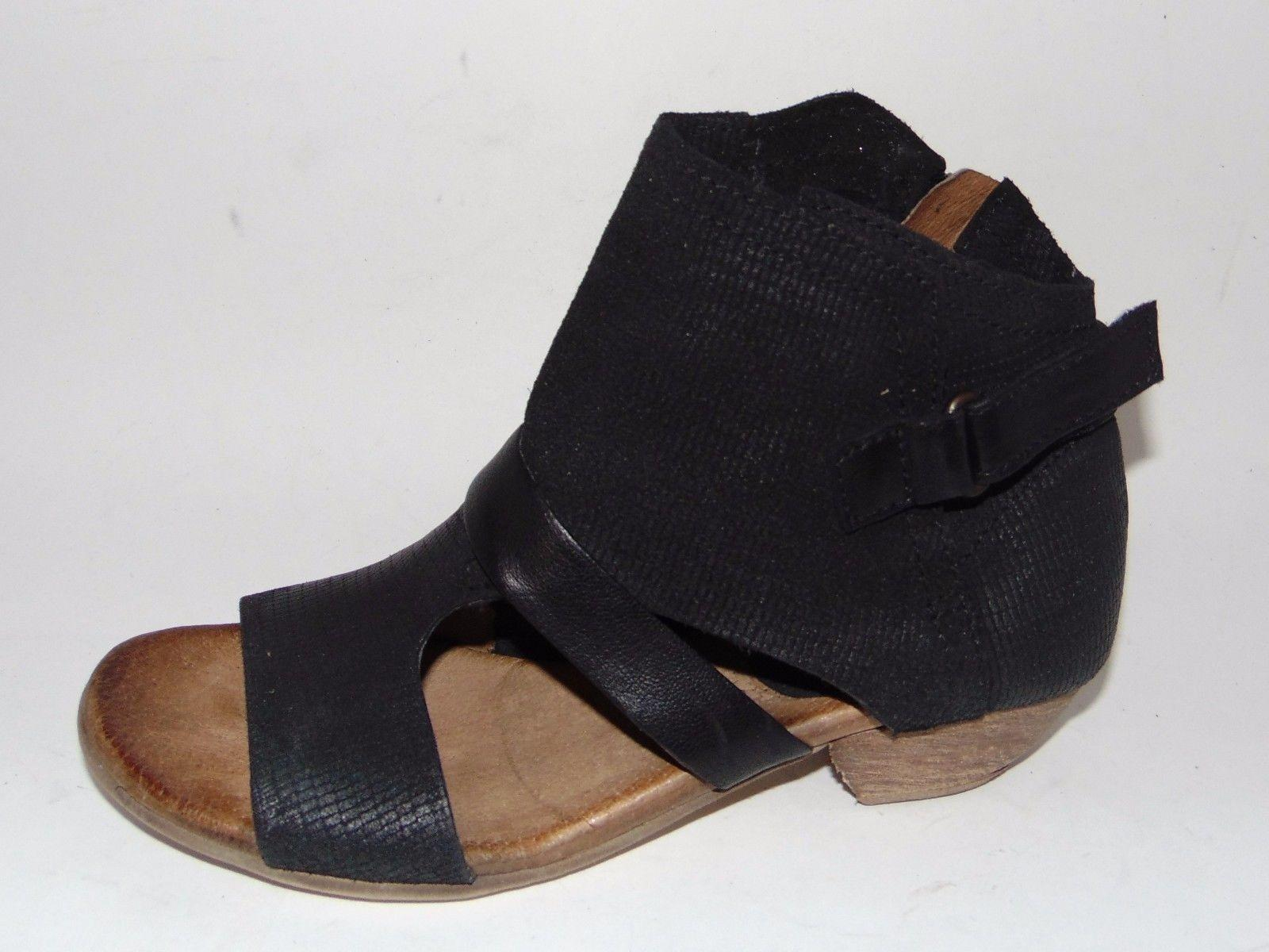 Miz Sandals Mooz Black Leather Bootie 37 Corgan Sandals Miz Size US 6.5 Regular (M, B) 051053