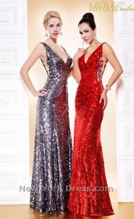 MM Couture Red Mnm Couture 8330 Dress