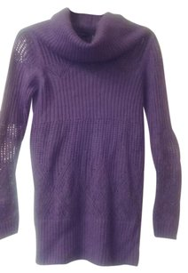 Moda International Tunic Crochet Knitted Sweater