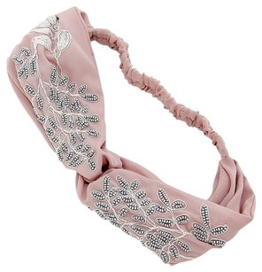 Modern Edge Boho bead leaf vine stretch headband