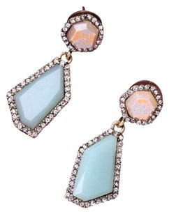 Modern Edge Geometric Crystal Drop Earring