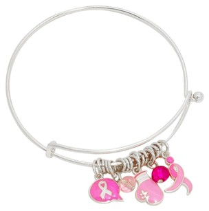Modern Lux New Breast Cancer Boxing Gloves Charm Bracelet