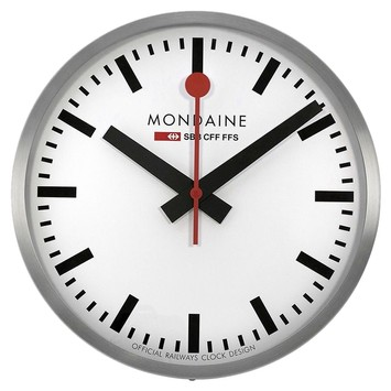 Mondaine 40cm white dial stainless steel wall clock a995cl16sbb watches on sale at tradesy - Mondaine wall clock cm ...