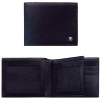 Montblanc Montblanc 103401 Leather Westside 6cc 2 Window Pockets Wallet