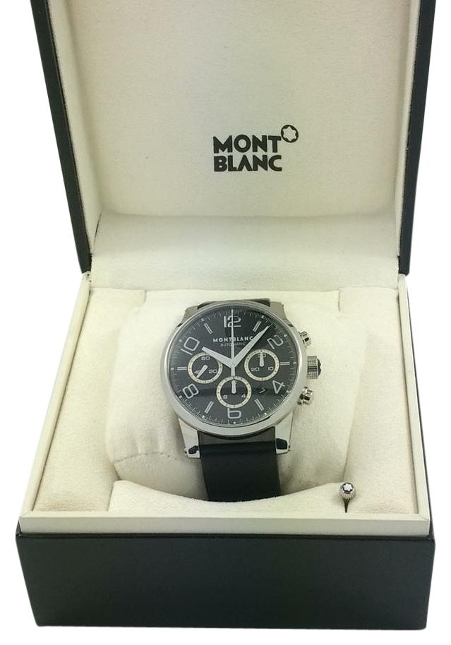 MONTBLANC TIMEWALKER BLACK DIAL CHRONOGRAPH AUTOMATIC MEN'S WATCH SERIAL NUMBER 7069 WATER RESISTANT 30m