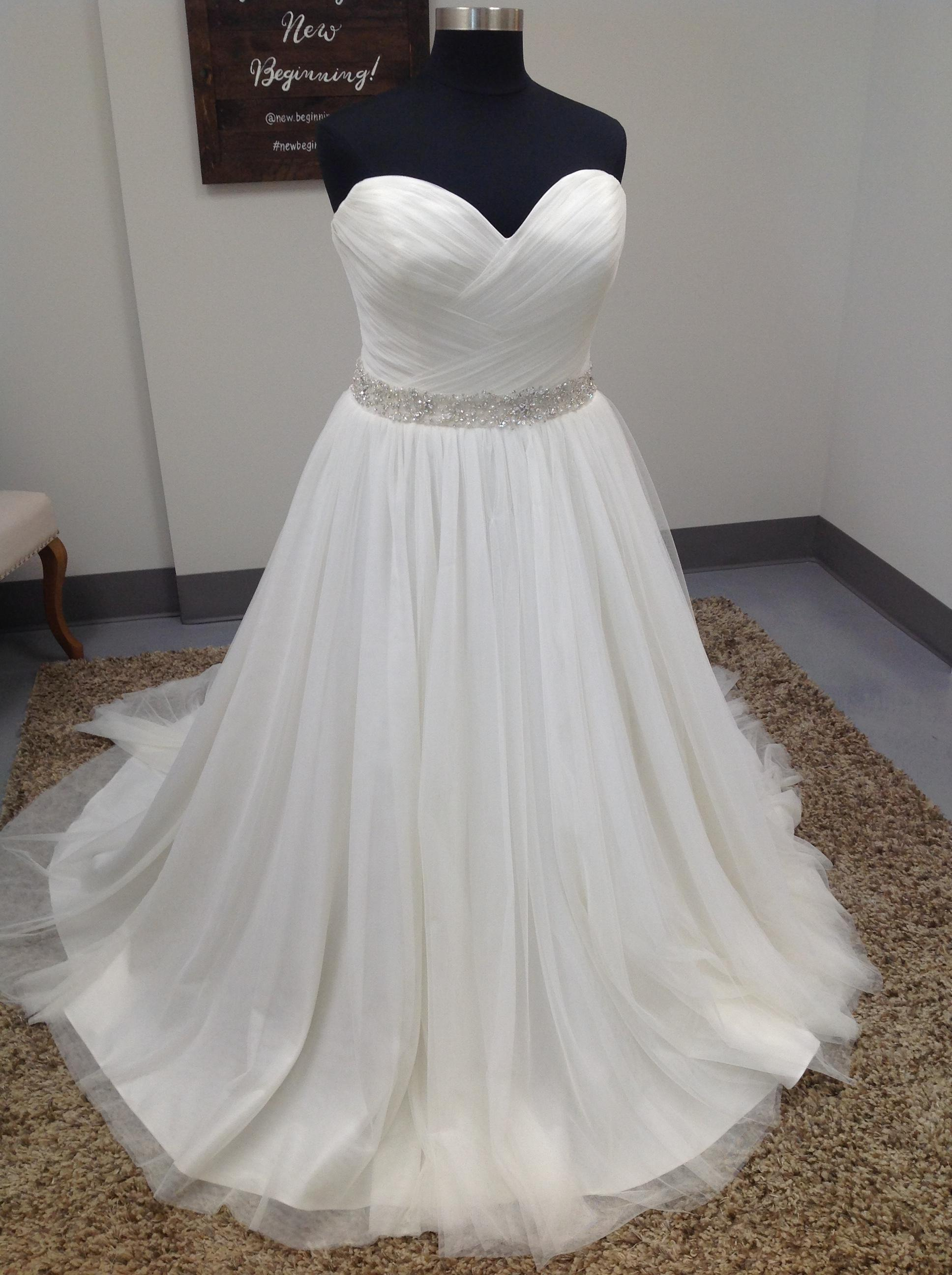 Mori Lee Ivory Tulle 3182 Wedding Dress Size 22 Plus 2x