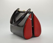 Moschino C0 Black Red Leather Black/Red Clutch