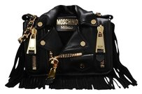 Moschino Leather Biker Vintage Shoulder Bag