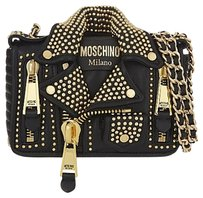 Moschino Studded Biker Shoulder Bag