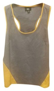 Mossimo Supply Co. Top Grey/Yellow