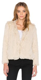 Mother Boxy Faux Fur Cry Wolf Beige Jacket