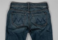 Mother Womens Holy Rascal Straight Leg Jeans