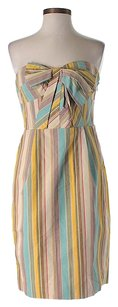 Moulinette Soeurs short dress Strapless Striped Shift on Tradesy