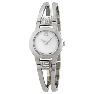 Movado Amorosa Diamond Mother of Pearl Dial Stainless Steel Ladies Watch