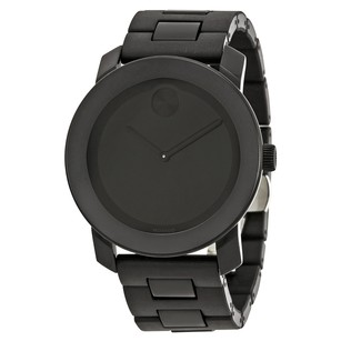 Movado Bold 42 mm Large Black Dial Black Bracelet Men's Watch MV3600047