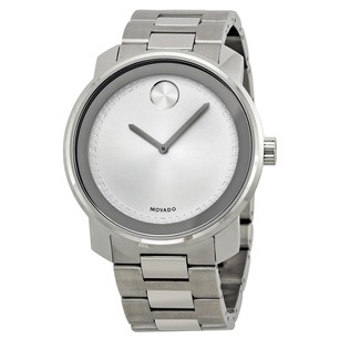 Movado Bold Silver Dial Stainless Steel Men's Watch MV3600257