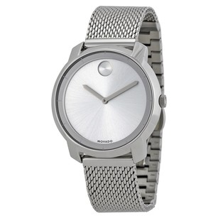 Movado Bold Silver Dial Stainless Steel Mesh Ladies Watch MV3600241