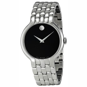 Movado Classic Black Dial Stainless Steel Men's Watch MV0606337