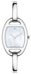 Movado Movado 0606606 Miri White Mother of Pearl Dial Women's Bangle Watch