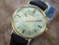 Movado Movado 14k Solid Gold King Matic Swiss Mens Automatic Dress Watch C1960 Gp9