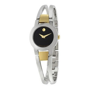 Movado Movado Amorosa Black Dial Stainless Steel Ladies Watch