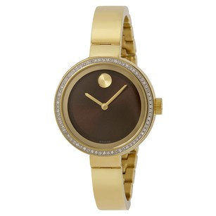 Movado Movado Bold 3600282 Diamond Bezel Gold Bangle Ladies Watch