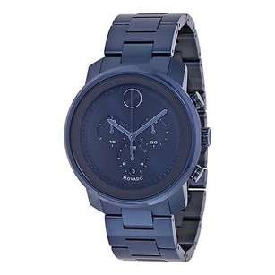 Movado Movado Bold Dark Navy Dial Blue Ion-plated Mens Watch