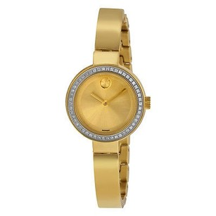 Movado Movado Bold Dot Gold Dial Yellow Gold-plated Ladies Watch