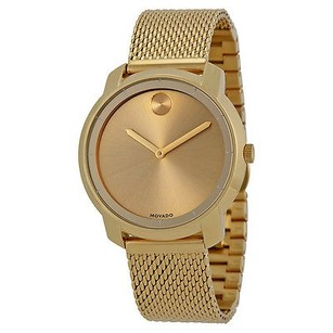 Movado Movado Bold Gold Dial Gold Ion-plated Mesh Watch