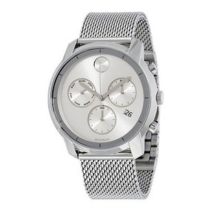 Movado Movado Bold Silver Dial Stainless Steel Mens Watch