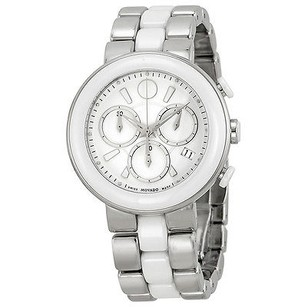 Movado Movado Chronograph White Dial White Ceramic Ladies Watch