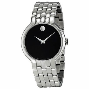 Movado Movado Classic Black Dial Stainless Steel Mens Watch