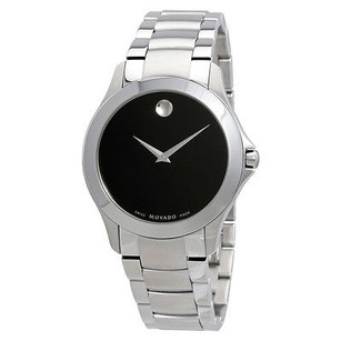 Movado Movado Masino Black Dial Stainless Steel Mens Watch