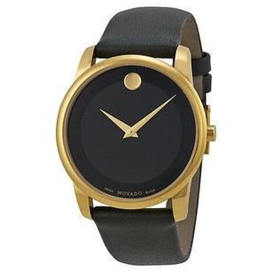 Movado Movado Museum Black Dial Leather Mens Watch