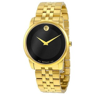 Movado Movado Museum Classic Black Dial Stainless Steel Yellow Pvd Mens Watch