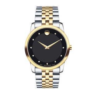 Movado Movado Museum Classic Two-Tone Watch Men Diamond Dial
