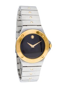 Movado Movado Museum Two-Tone Stainless Steel 14k Yellow Gold Watch 81.A1.837