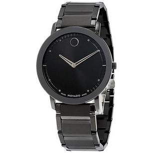 Movado Movado Sapphire Black Dial Black Pvd Stainless Steel Mens Watch