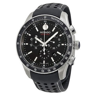 Movado Movado Series 800 Quartz Chronograph Black Dial Mens Watch