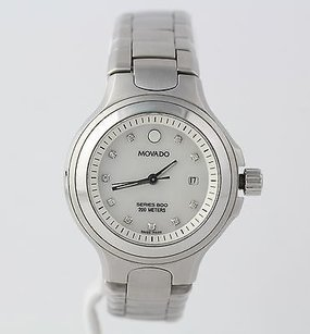 Movado Movado Series 800 Womens Wristwatch Diamond Mother Of Pearl - Stainless Steel