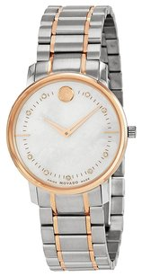 Movado Movado TC Mother of Pearl Two Tone Stainless Steel Ladies Watch 606692