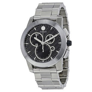 Movado Movado Vizio Black Carbon Fiber Stainless Steel Mens Watch