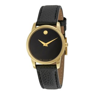 Movado Museum Classic Black Dial Leather Ladies Watch MV0607016